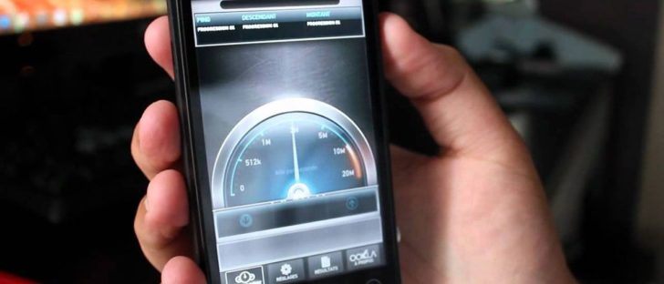 Uno speedtest su uno smartphone: ecco le connessione dati più veloci