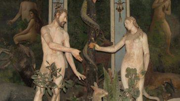 Nel giardino dell'Eden Adamo e Eva si interrogano sul numero di costole