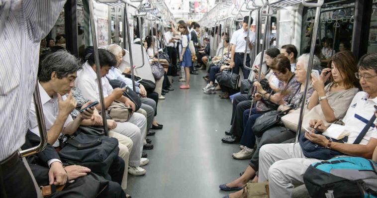 Metropolitana di Tokyo. Puzza-free.