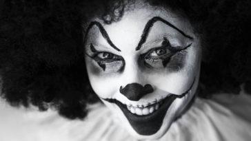 Un clown particolarmente inquietante.