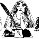Donna indecisa tra un piccolo angelo e un diavoletto