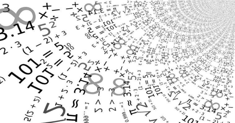 Tanti numeri e relazioni matematiche.