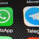 Icone di Whatsapp e di Telegram