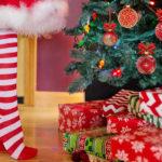 Albero di Natale con regali.
