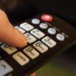 Telecomando di un televisore