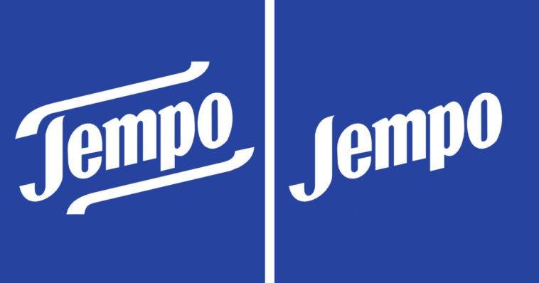 Confrontro tra logo fazzoletti Tempo e Jempo