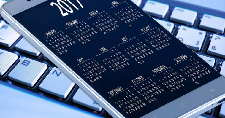 Calendario su display smartphone