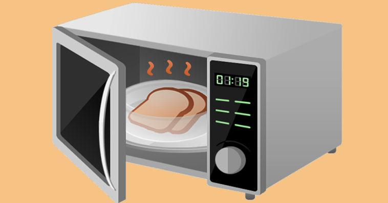 Un classico forno a microonde.