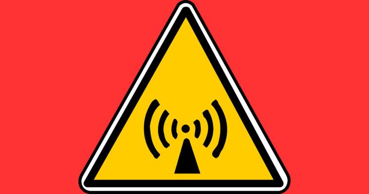 Simbolo di rischio di radiazione non ionizzante