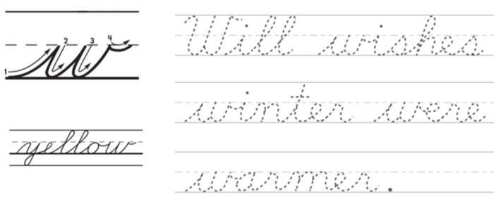 w in corsivo, alcuni esempi