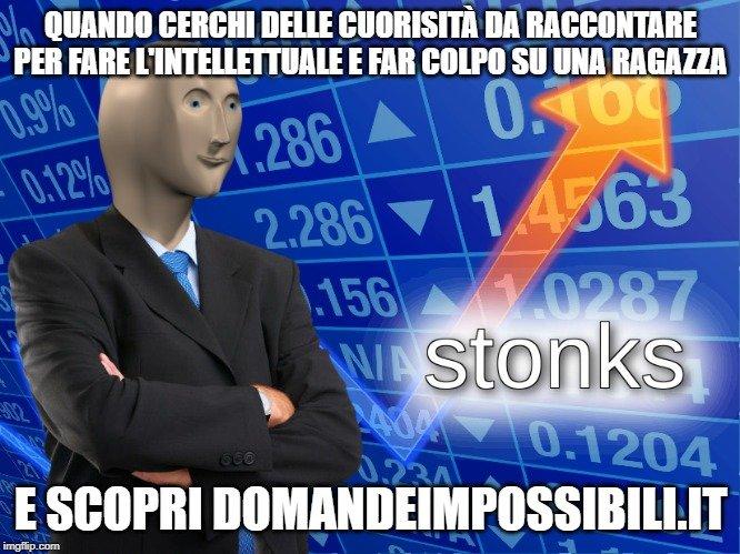 Meme Stonks domandeimpossibili.it